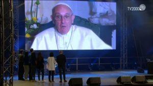 Papa Francesco festa italiani gmg